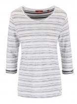 s.Oliver Tmavě šedé pruhované tričko