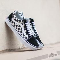Vans Old Skool CHECKERBOARD Black - dámské
