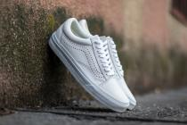 Vans Old Skool Reissue Leather White - dámské