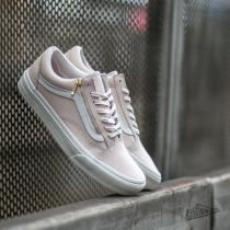 Vans Old Skool Zip Leather White Spring Powter/ Blanc De Blanc - dámské