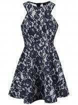 AX Paris Bílo-modré krajkové