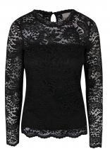 Vero Moda Černá krajkovaná s dlouhým rukávem Celeb