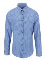 Seidensticker Bílo-modrá puntíkovaná Kent Uno Super Slim