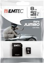 EMTEC microSD 8GB HC Class10+adapter