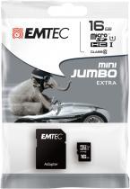 EMTEC microSD 16GB HC Class10+adap.