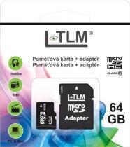 LTLM Micro SD + SD adaptér 64GB Class 10