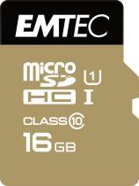EMTEC microSDHC 16GB Gold+CL10+adap.
