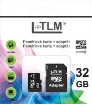 LTLM Micro SD + SD adaptér 32GB Class 10