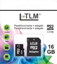 LTLM Micro SD + SD adaptér 16GB Class 10