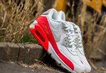Nike Air Max 90 Essential Summit White/ Light Bone-Bright Crimson