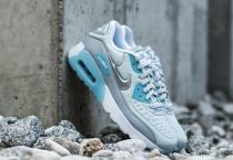 Nike Air Max 90 (GS) Ultra SE Pure Platinum/ Metallic Silver-Wolf Grey-Blue