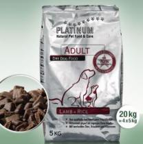 Platinum Natural Adult Lamb & Rice 20 kg