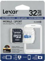 LEXAR 32GB microSDHC 300x s adaptérem