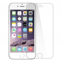 Screenshield Tempered Glass pro iPhone 6, (white; kovový okraj)