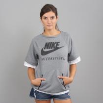 Nike W NK Intl Top SS melange šedá