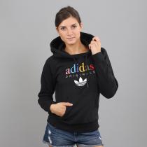 adidas Hoodie černá/multicolor