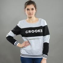 Crooks & Castles Finesse Crew Sweatshirt melange šedá