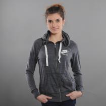 Nike W NSW Gym Vntg Hoodie FZ melange tmavé šedá