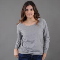 Urban Classics Ladies Open Edge Crewneck melange šedá