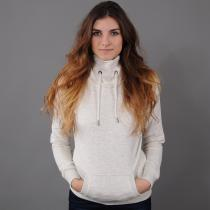 Urban Classics Ladies High Neck Hoody melange krémová