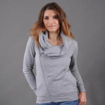 Urban Classics Ladies Asymetric Zip Jacket šedá
