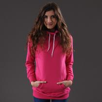 Urban Classics Ladies Long Sweat Hoody růžová
