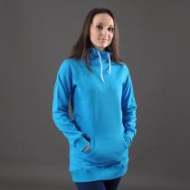 Urban Classics Ladies Long Sweat Hoody tyrkysová