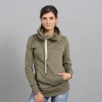Urban Classics Ladies Long Logopatch Hoody olivová