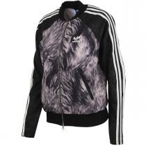 adidas Stmrtz Fur Print Superstar Tracktop černá