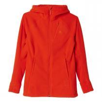 adidas Womens Teddy Hooded Fleece červená