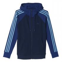 adidas Essentials 3S Hoody modrá