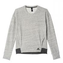 adidas Cotton Fleece Crew Sweat šedá