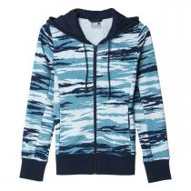 adidas Essentials Hoody All Over Print modrá