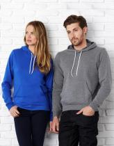 BELLA + CANVAS Unisex Sweat s kapucí Bella Červená