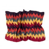 Art of Polo barevný kruhový šál s barevným cik cak vzorem v oranžových odstínech