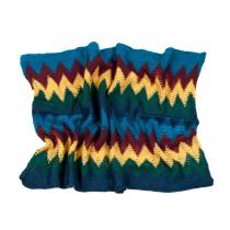 Art of Polo barevný kruhový šál s barevným cik cak vzorem v tyrkysových odstínech