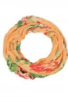 Abrid kruhová šála - oranžová