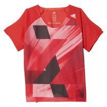 adidas Adizero Short Sleeve Tee W červená