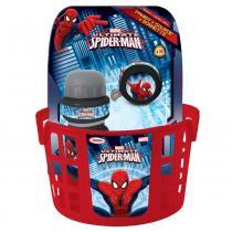Spiderman (košík, zvonek, láhev)