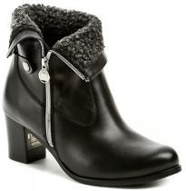 Abil 801 černé dámské zimní kotníčkové boty