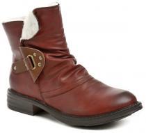 Cortina.be Eveline 86A012 červené dámské zimní boty