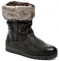 Jana 8-26418-27 černé dámské zimní boty šíře H