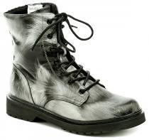 Sprox 294138 černo bílé dámské zimní boty