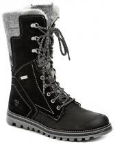 Tamaris 1-26269-27 černé kotníkové zimní boty