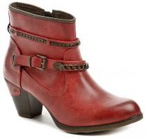 Mustang 1202-502-5 červená dámská kotníčková obuv
