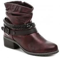 Bruno Banani 253381 vínové dámské boty