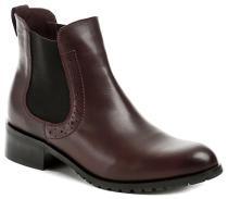 Hilby 826 bordó dámské kotníčkové boty