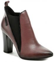 Hilby 1057 vínová dámská kotníčková obuv