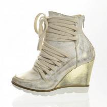 PAOLO GIANNI kotníčková obuv zlatá