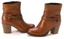 Tamaris kotníčková obuv hnědá